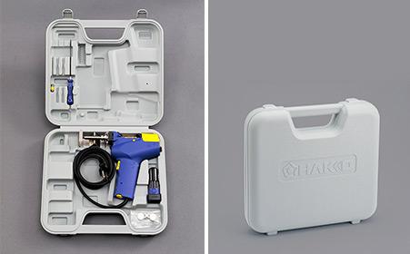 Демонтажный пистолет Hakko FR-301 поставляется с футляром для удобного хранения