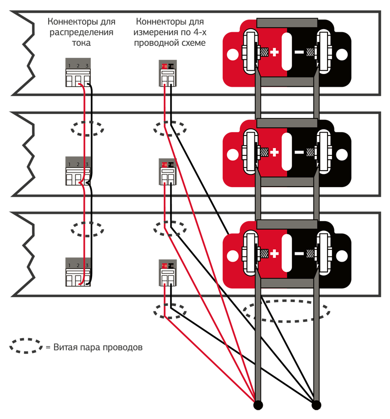 Рис. 4. Параллельное подключение источников питания APS серии N6900A/N7900A