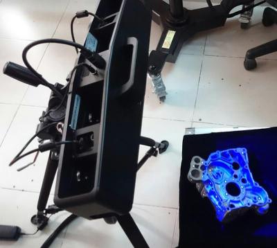 Процесс 3D-сканирования детали