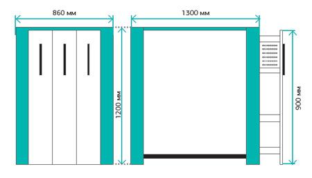 Размеры инструментального шкафа серии Титан